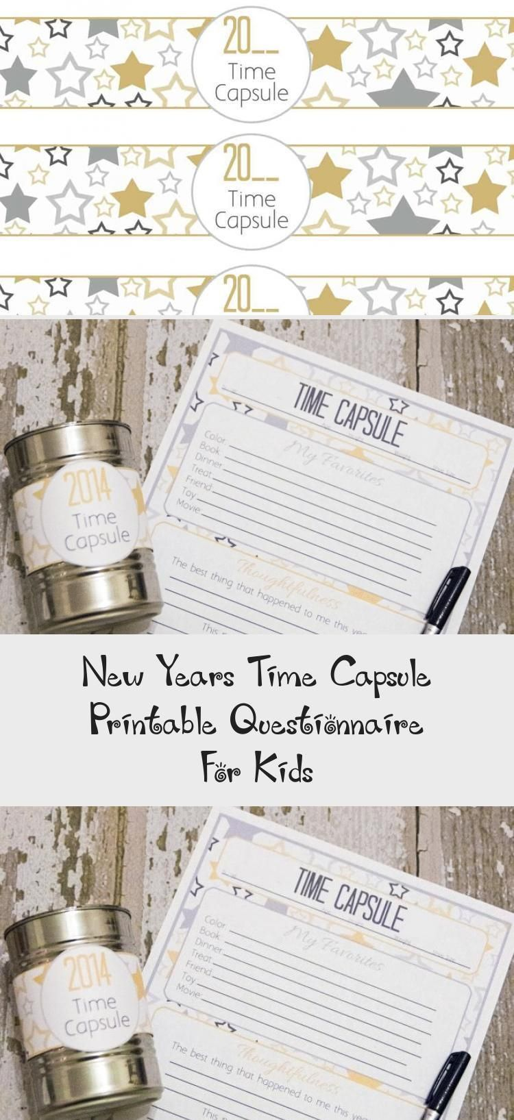 New Years Time Capsule Printable Questionnaire For Kids