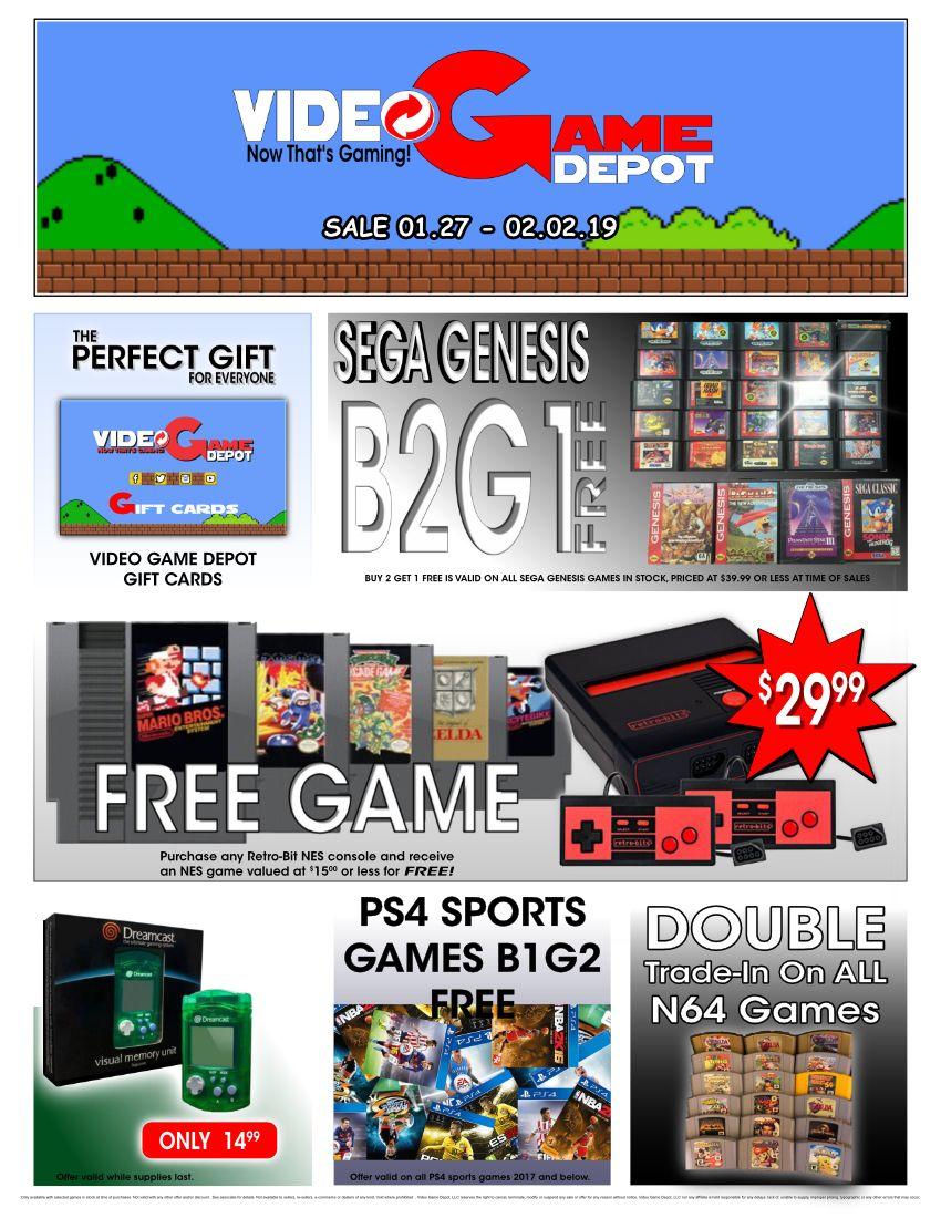 This Week S Gaming Sale Video Game Depot Game On Video Game Depot With Images Sega Genesis Games Free Games Games