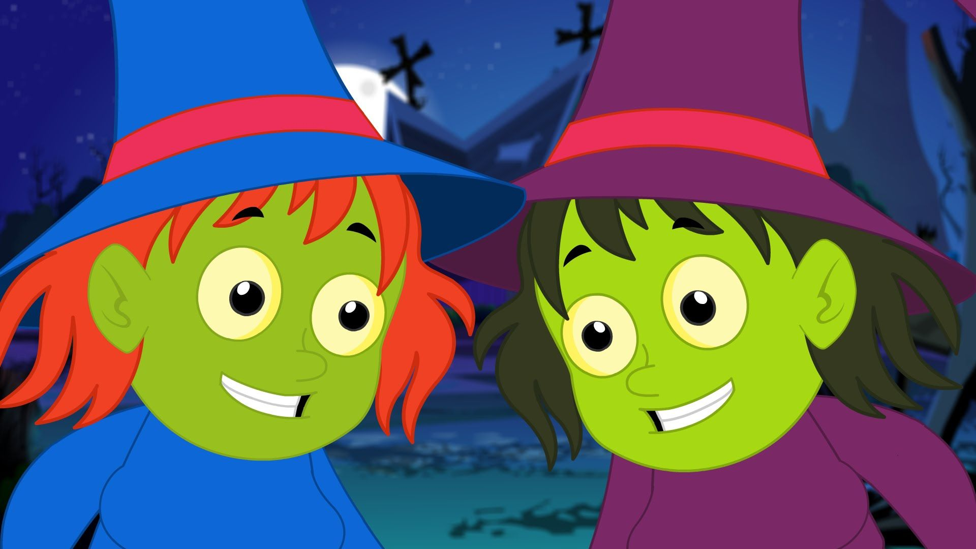 five wicked witches halloween nursery song rhyme for children