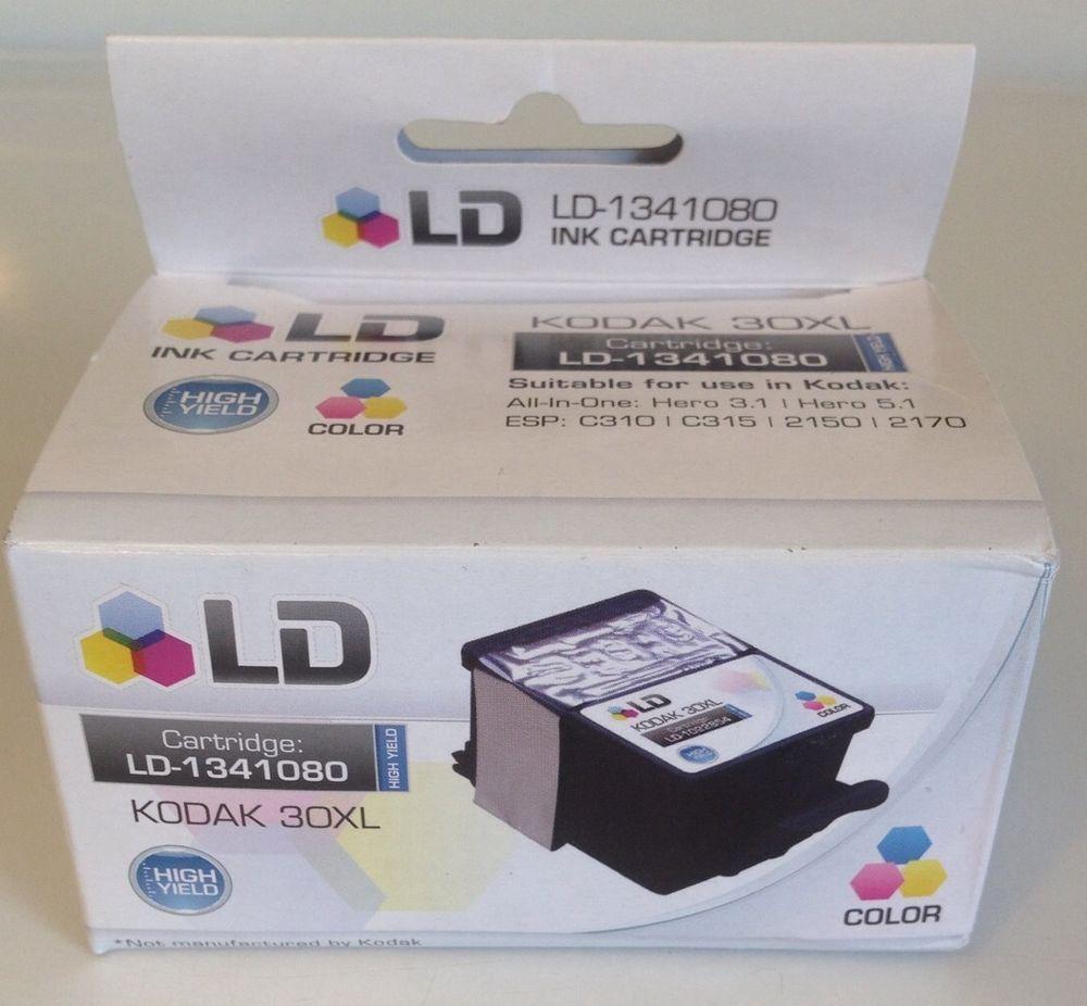 LD KODAK 30XL Color Ink Cartridge NEW