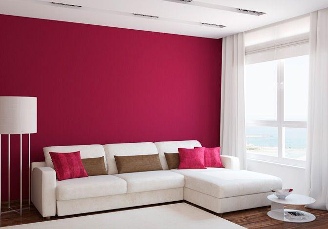 Parede Cereja Interiores De Quarto Cores Para Sala Sala De Design