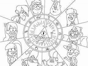 Image Result For Bill Cipher Coloring Pages Gravity Falls Fall