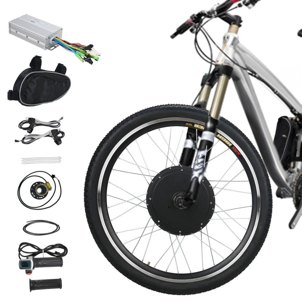 Voilamart Electric Bicycle Kit 26 Front Wheel 48v 1000w E Bike Conversion Kit Cycling Electric Bike Kits Best Electric Bikes Electric Bicycle Conversion Kit