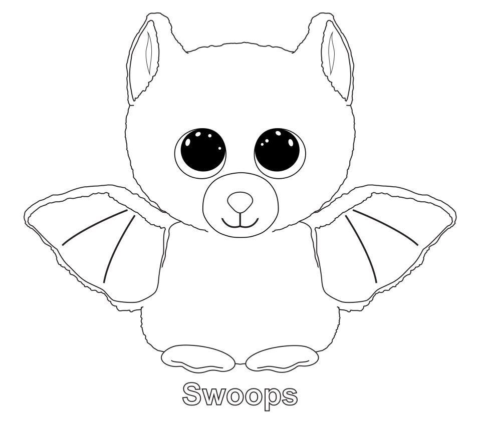 Swoops the Bat TY Beanie Boo | Ty Beanie Boos | Pinterest | Asas ...