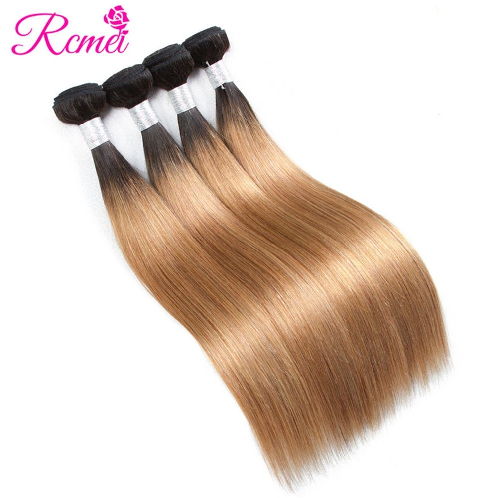 Hair Extensions & Wigs Hair Weaves Spark 27 Honey Blonde Color 100% Human Hair 10-26 Inch Brazilian Hair Weave Bundles Straight 3 Or 4 Bundles Remy Hair Extensions Goods Of Every Description Are Available