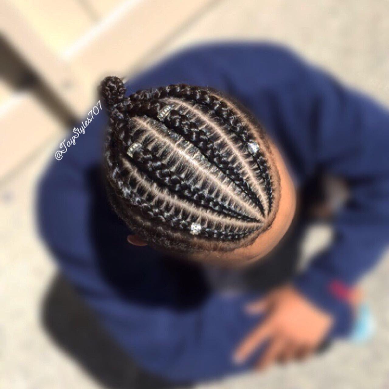 4 simple cornrows #braidsformen