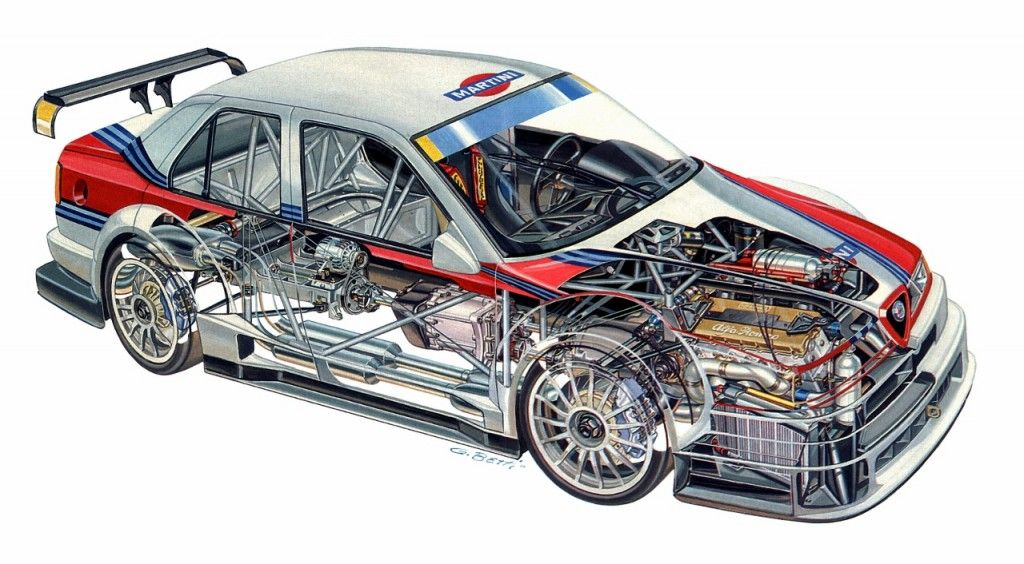 alfa romeo 155 v6 ti race car dtm cutaway cutaway. Black Bedroom Furniture Sets. Home Design Ideas