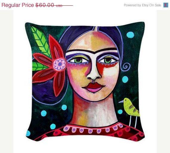 20 OFF Frida Kahlo Pillow  Throw Pillow by HeatherGallerArt, $48.00
