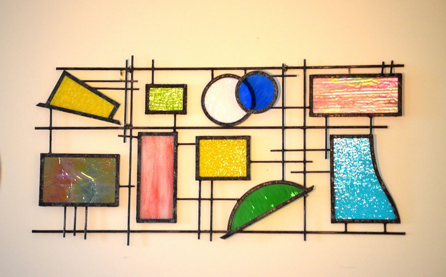 Custom Stained Glass and Metal Sculpture \'Free Spirit II ...