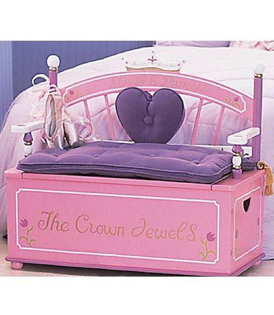 Princess Toy Box Bench Dress Up Trunk Kids Furniture Princess Toys Toy Boxes