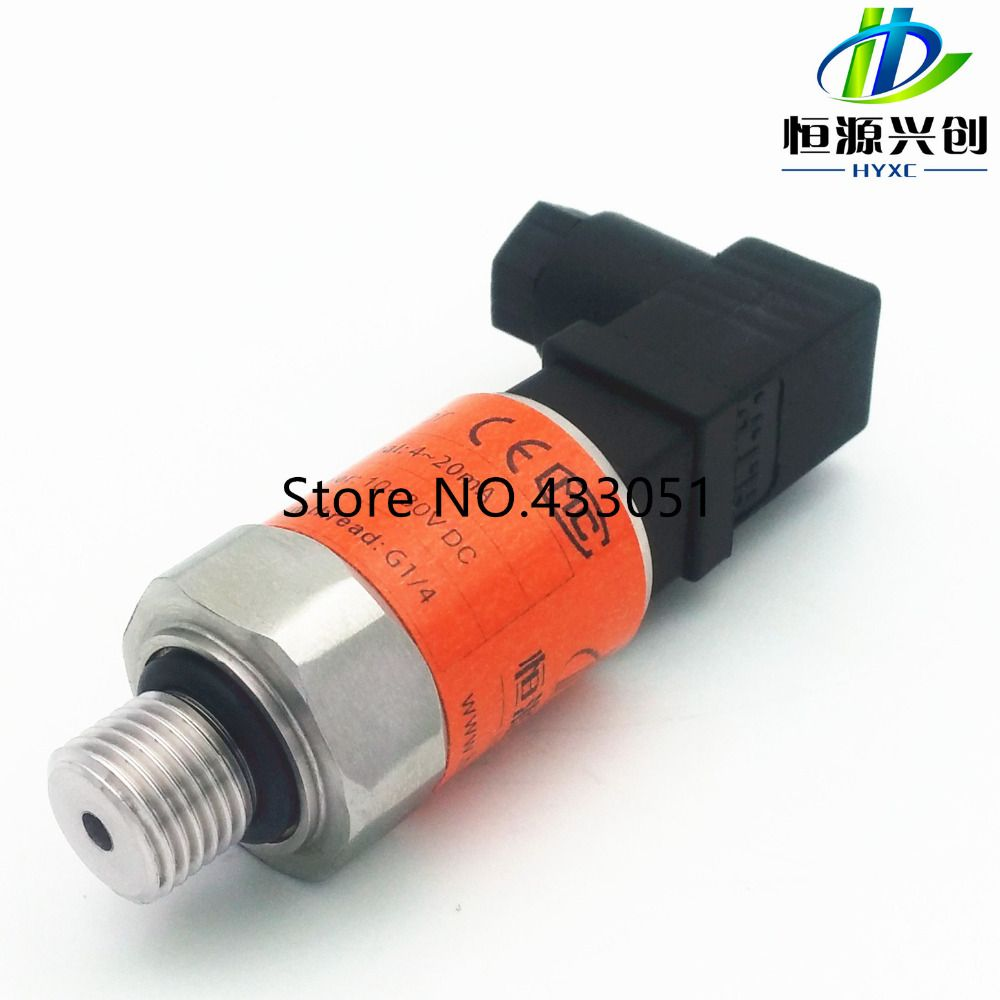Free Shipping 0 16 Bar 24v Dc Power Supply G1 4 0 10v Output 0 5 Pressure Transmitter Pressure Transducer Sensor Transducer Transmitter Power Supply