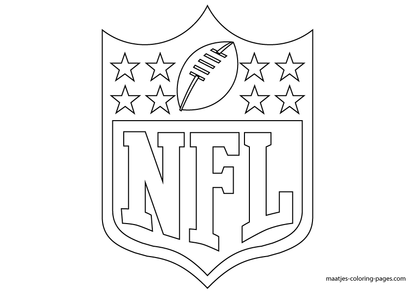 More Nfl Coloring Pages On Maatjes Coloring Pages Com Football Coloring Pages Sports Coloring Pages Nfl Logo