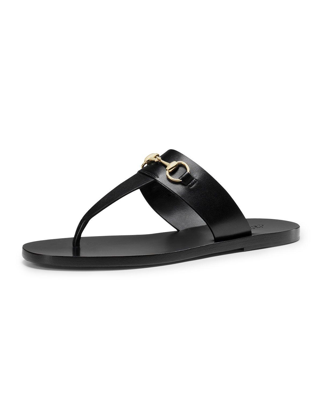 56ace537749c Gucci Horsebit Flat Thong Sandal