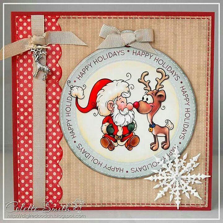 Cute Christmas card Crafty CARDS CHRISTMAS ANY KIND Pinterest