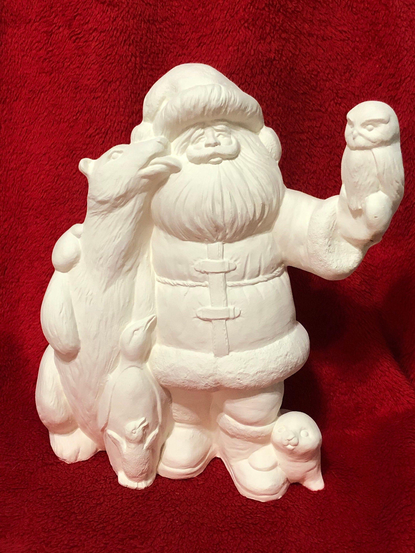 Polar Santa Claus In Ceramic Bisque Ready To Paint In 2020 Ceramic Bisque Handmade Ceramics Ceramics