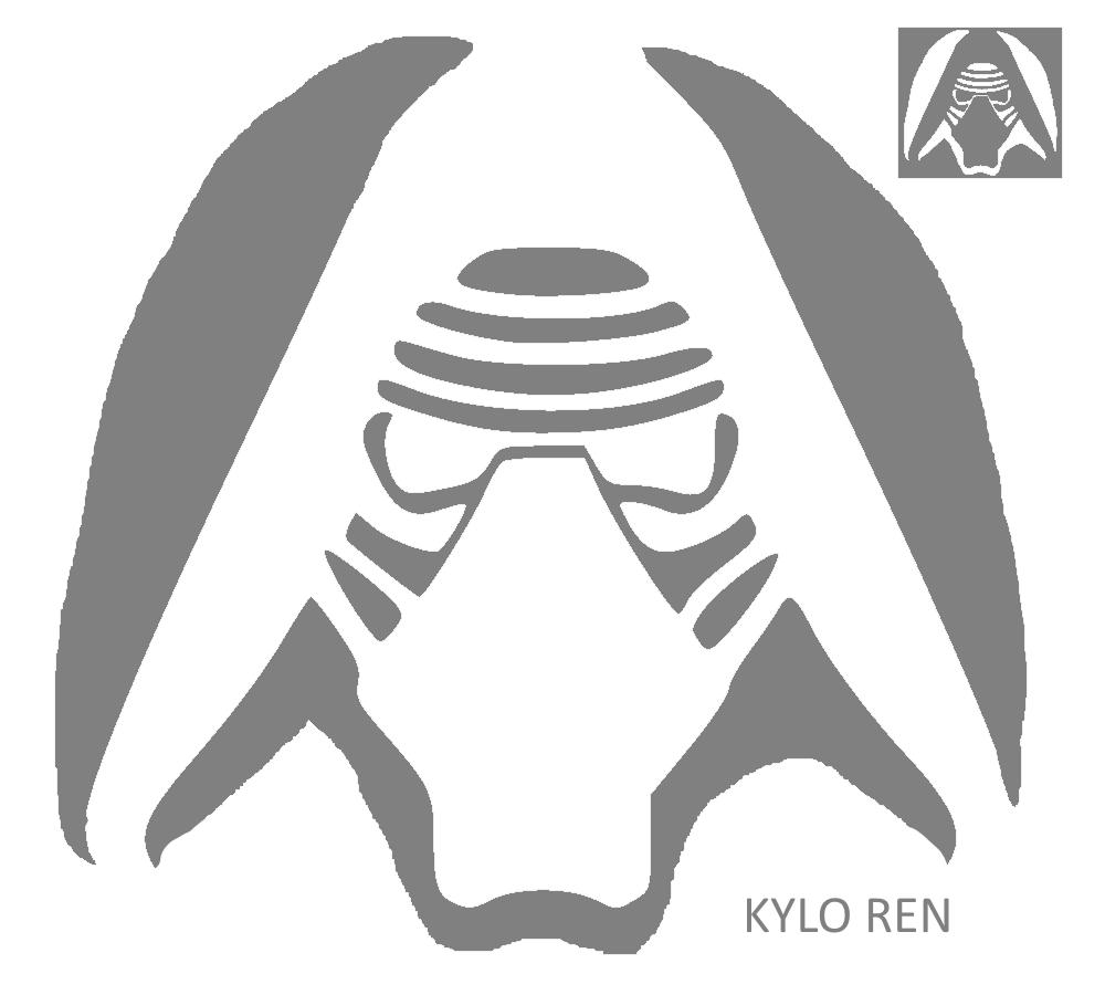 Kylo Ren Pumpkin Stencil | Stenciling, Pumpkin contest and Halloween ...