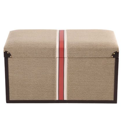 Add Classic Vintage To Your Storage With This Set Of Traveleru0027s Striped  Storage Ottoman. Large