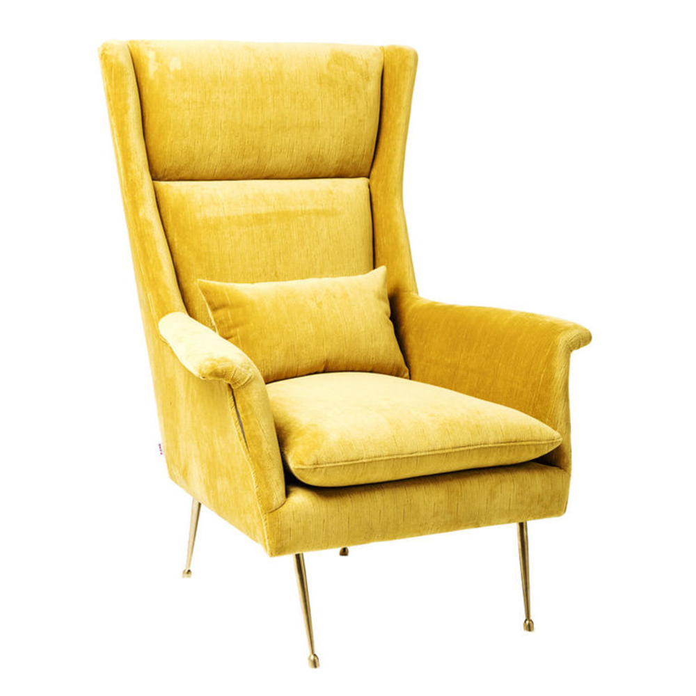 Simple vegas forever yellow arm stoel geeloker home stock for Stoel kind ikea