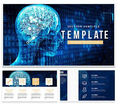 Artificial Intelligence Brain Powerpoint Presentations