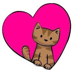 Simplistic Cat In A Heart Cat Doodle Animal Doodles Doodles