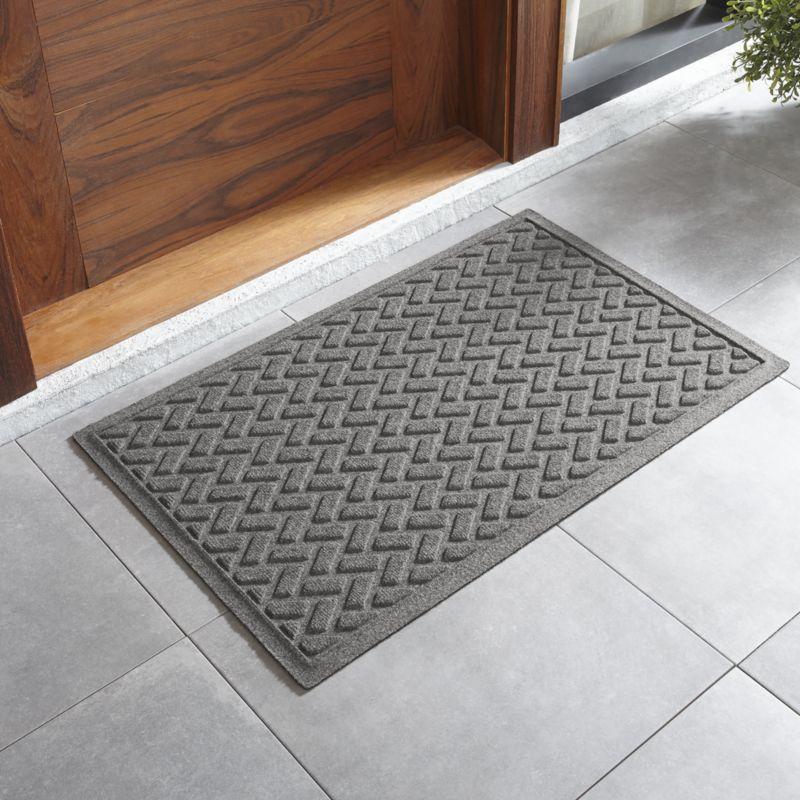 Thirsty Dashes Light Grey Doormat 36 X60 Indoor Door Mats