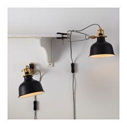 ranarp wand klemmspot schwarz das buch deckchen und ikea. Black Bedroom Furniture Sets. Home Design Ideas