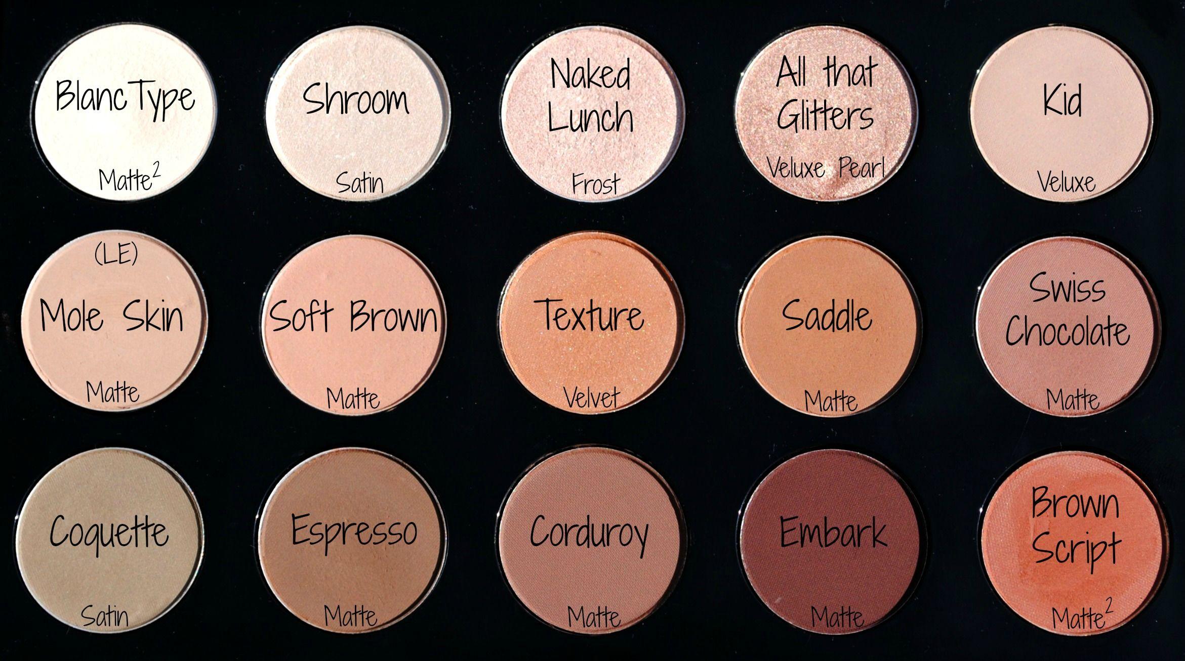 Mac Eyeshadow Palette with Names Bing Images Mac
