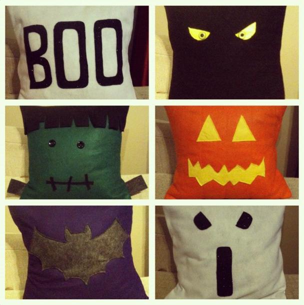 diy halloween felt pillows - Halloween Pillows