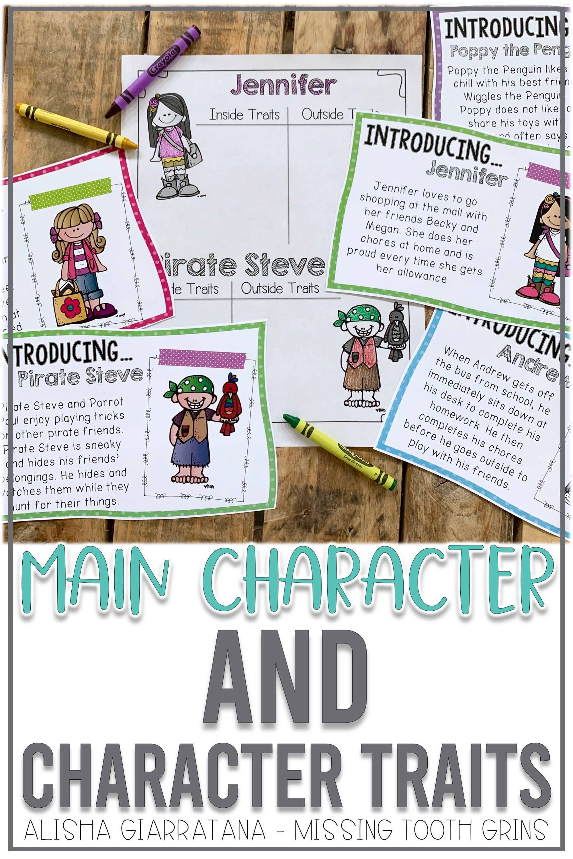 Character Traits Reading Unit With Images
