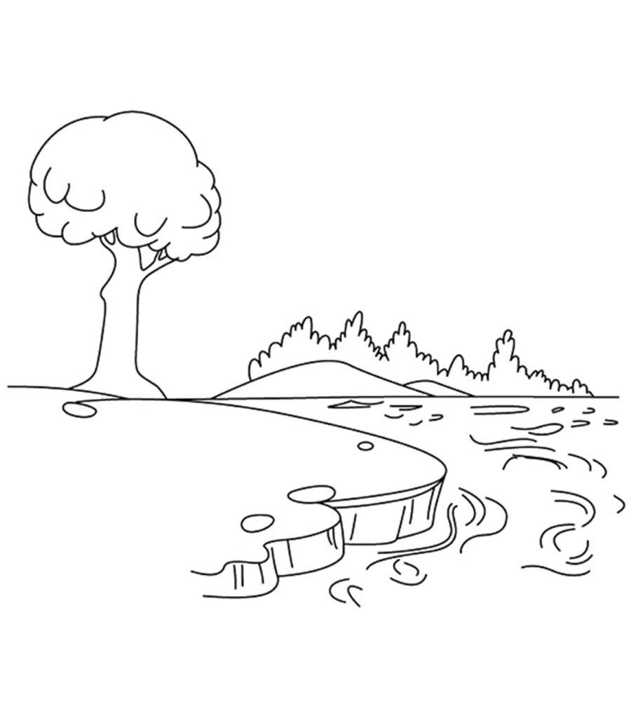 Free Download River Coloring Pages