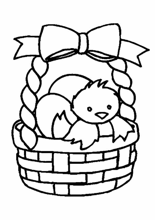 10 Cute Easter Basket Coloring Pages For Your Toddler Easter