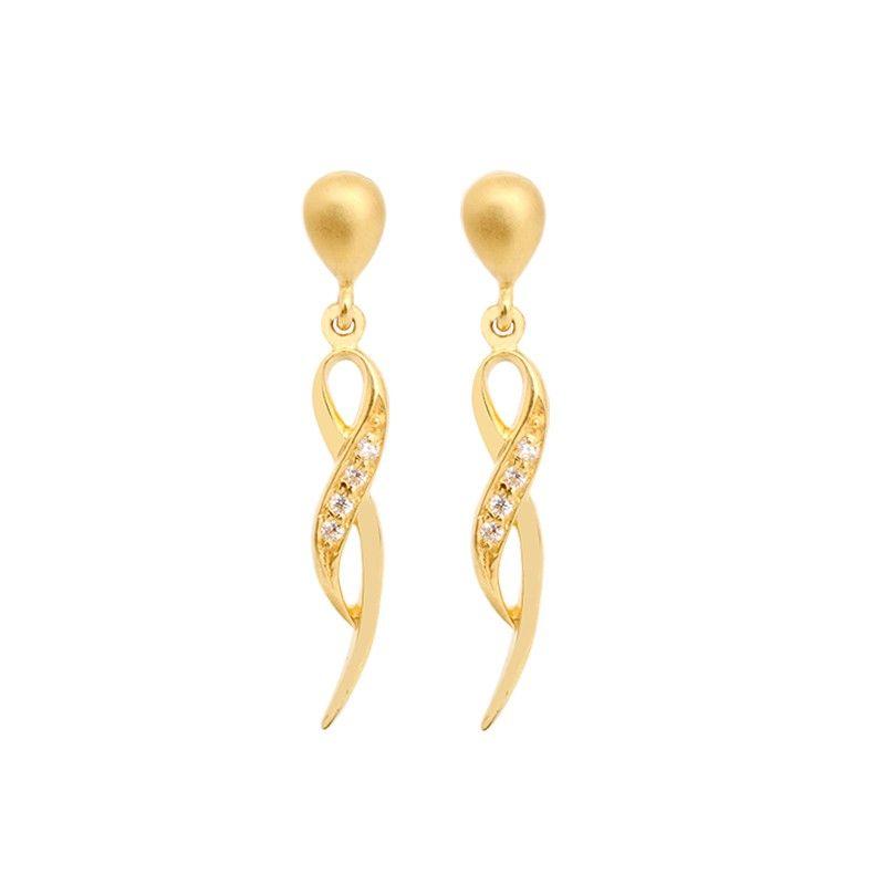 Fancy Infinity 22KT Gold Earrings | earring | Pinterest | Infinity ...