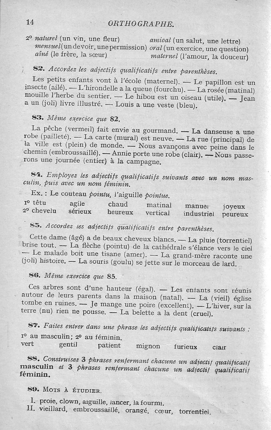 Hauteur Ciel De Pluie bled, cours d'orthographe ce-cm1 (1956)   orthographe, cm1