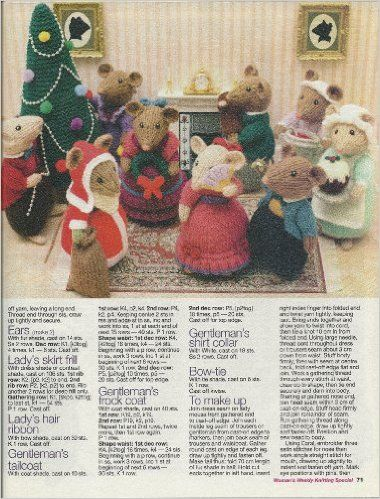 Alan Dart Christmas Cheer Womans Weekly Pullout Toy Knitting