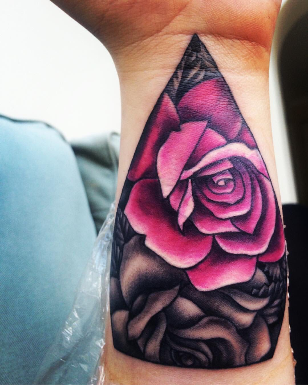 Rose Tattoo Cover Up: Rose Tattoo Wrist Cover Up Pink