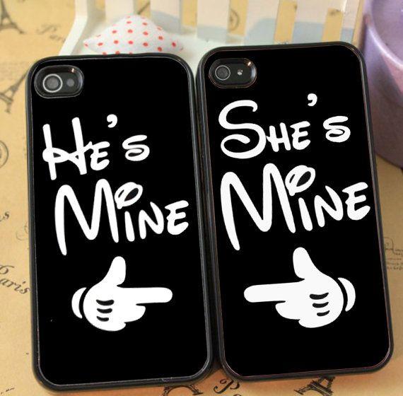 He's Mine She's Mine, MIckey Minnie Hand Cute Couple phone case ...