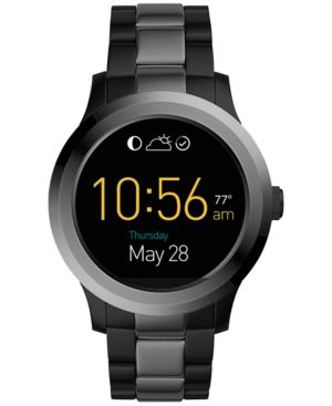 Fossil Q Men S Founder 2 0 Two Tone Stainless Steel Bracelet Touchscreen Smart Watch 46mm Ftw2117 Black Fossil Smart Watch Smart Watch Fossil Watches
