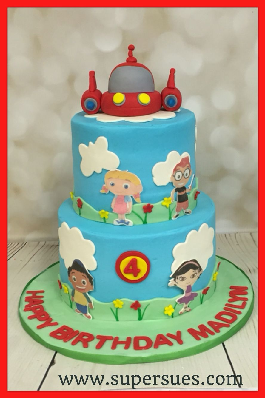 Phenomenal Little Einsteins Themed Two Tier Birthday Cake Little Einsteins Funny Birthday Cards Online Inifofree Goldxyz