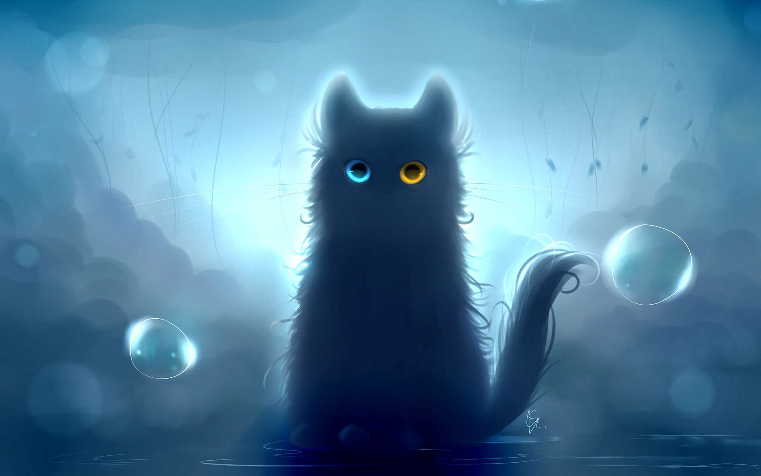 Anime Black Wallpaper Cat Black Cat Art Art Wallpaper Cat Wallpaper