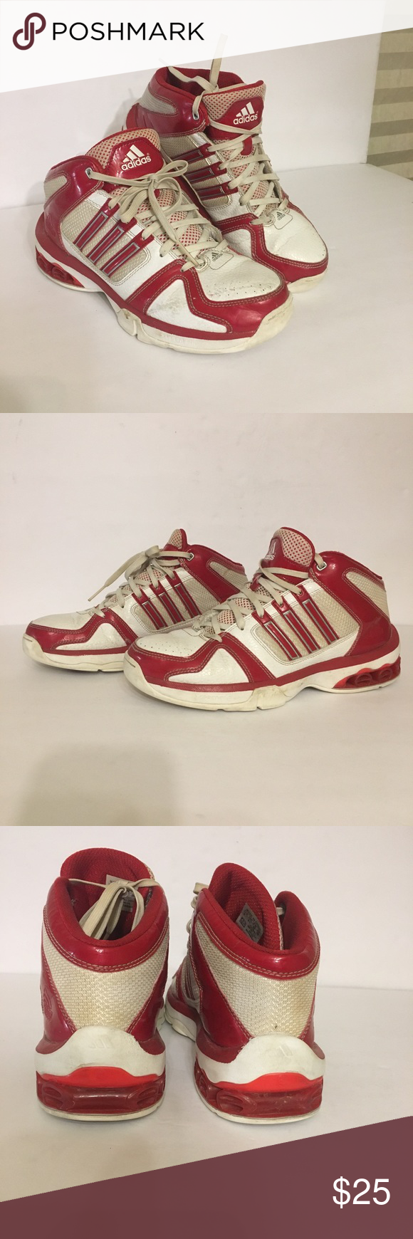 newest 6c285 c0ea5 Adidas men s tennis shoes white and red size 8 Adidas tennis shoes for  Guys, white