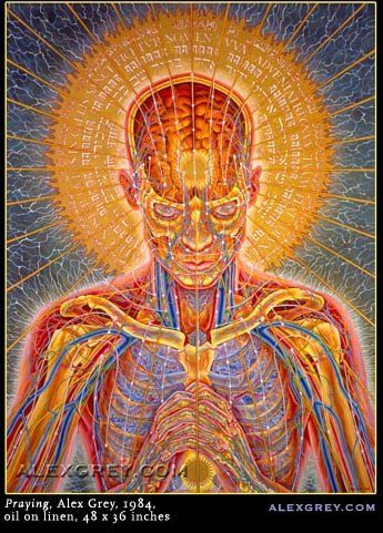 The Internal/External Expression of Energy during Prayer as visually interpreted by Alex Grey.