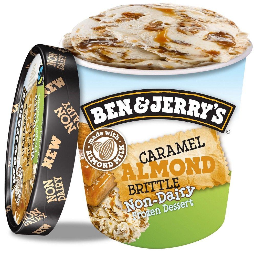 Ben Jerry S Non Dairy Caramel Almond Brittle Frozen Dessert 16oz