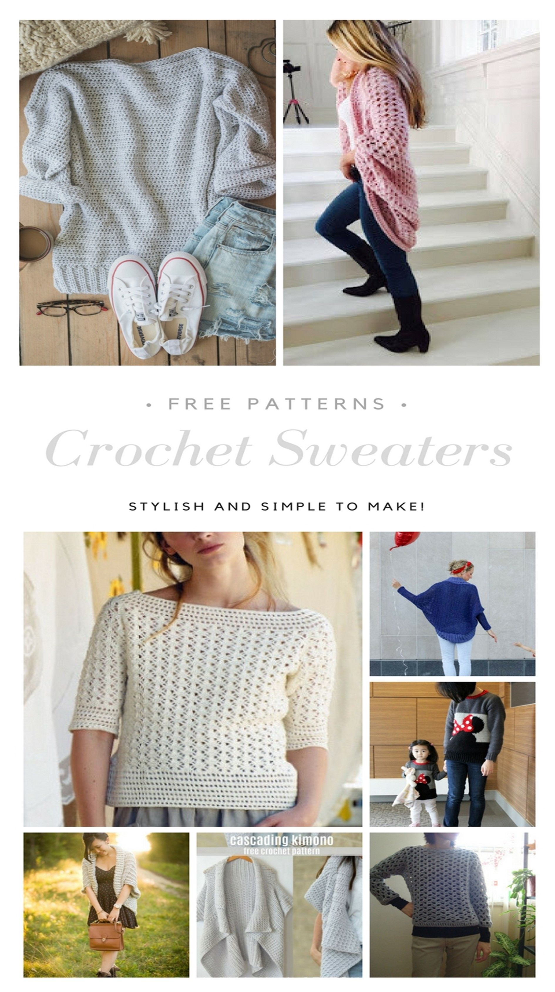 Crochet Sweater free patterns - Womens Clothing - | Crochet sweater ...