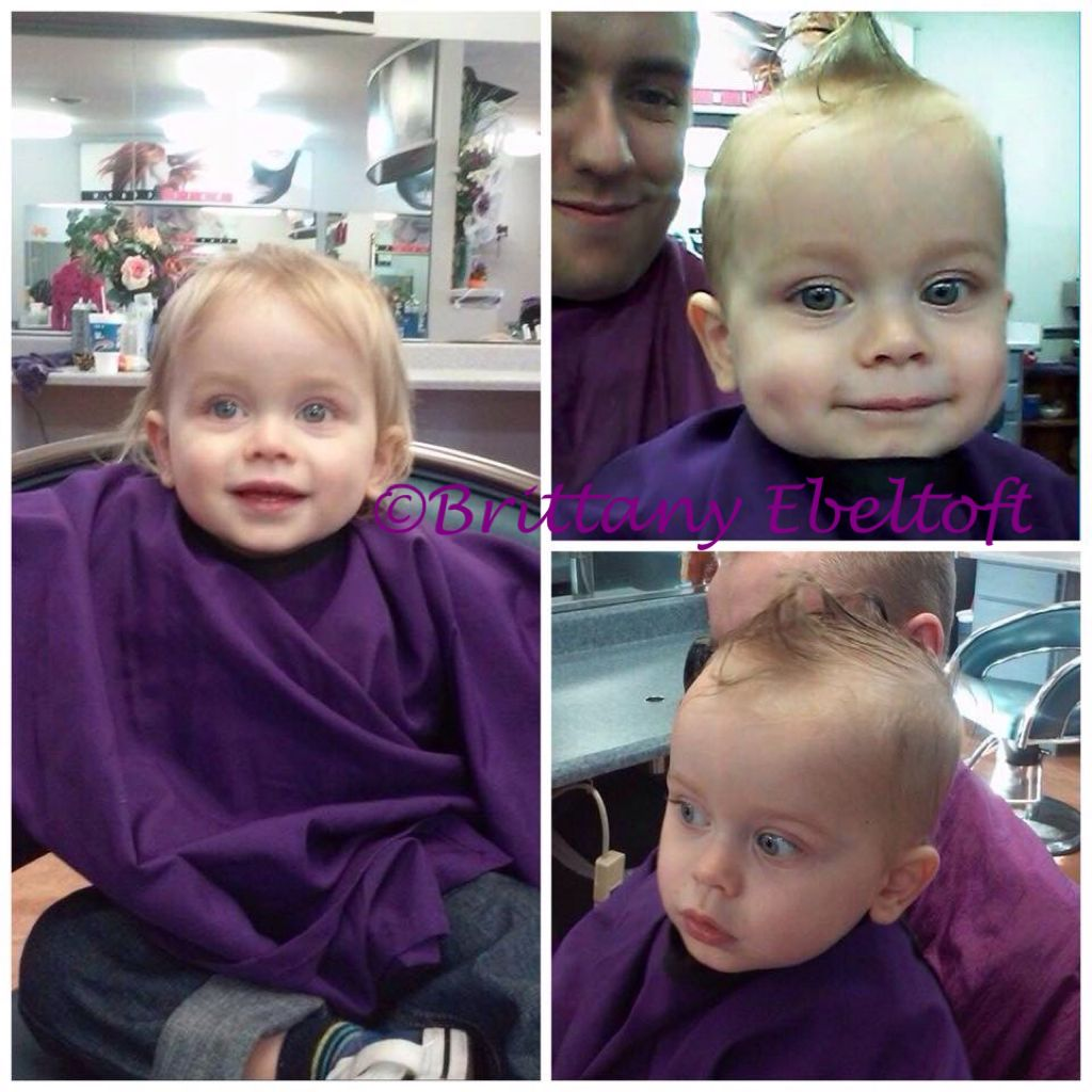 First haircut for this little rebel the best part of mohawks for