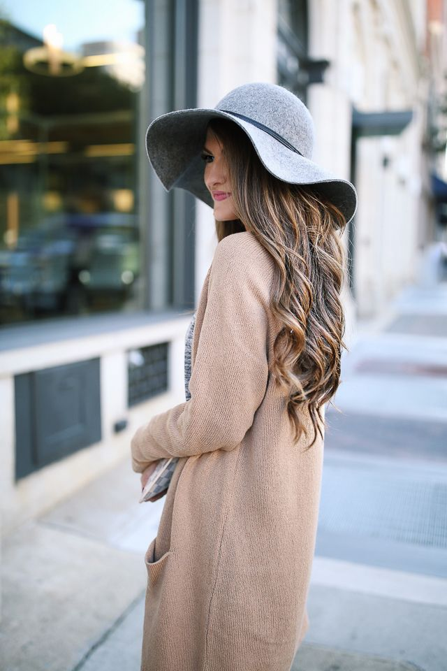 How to take the 'floppy hat' look into fall.
