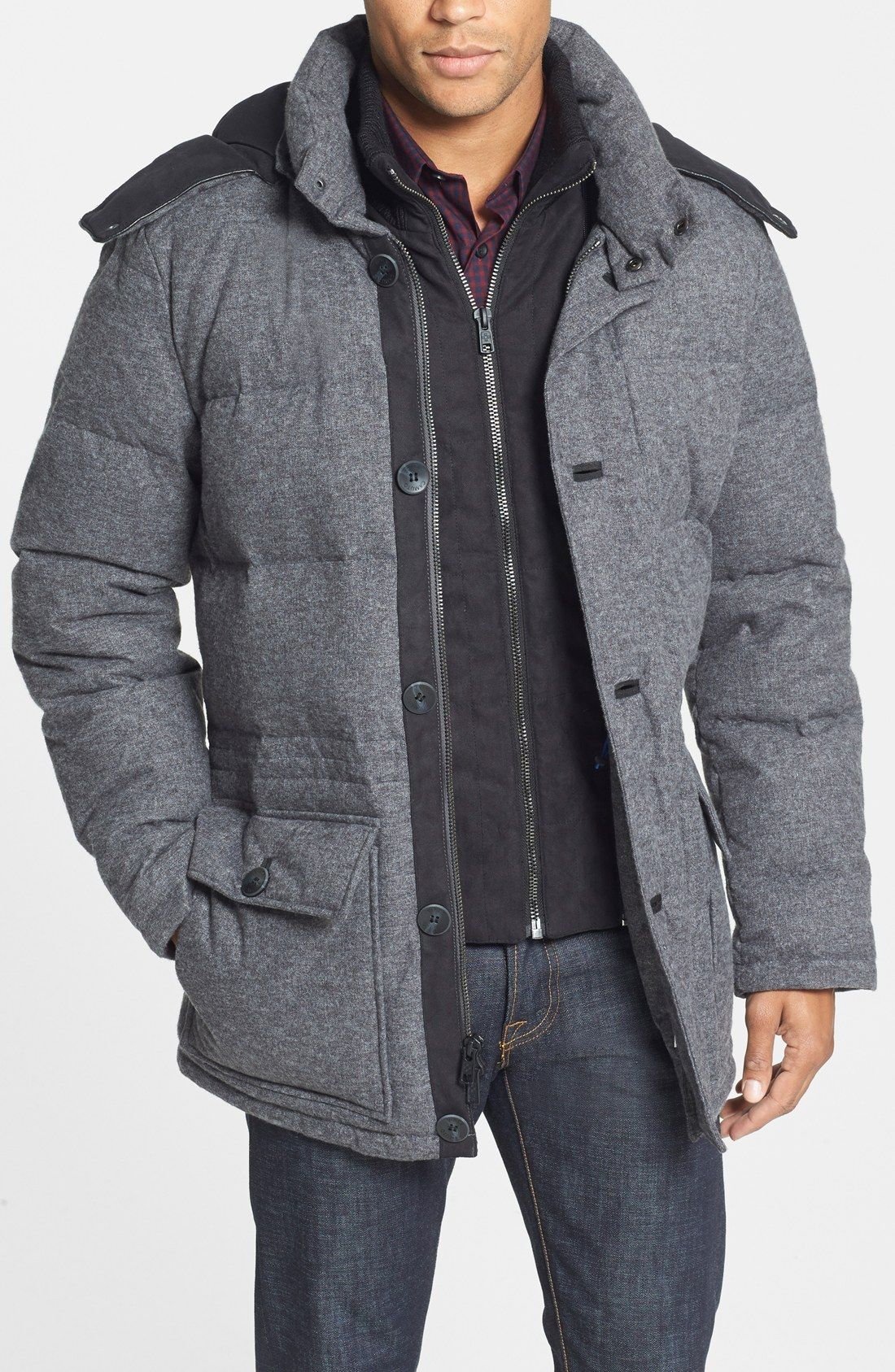 Vince Camuto 680 Down Fill Quilted Hooded Parka Nordstrom Anorak Parka Anorak Parka Jacket [ 1687 x 1100 Pixel ]