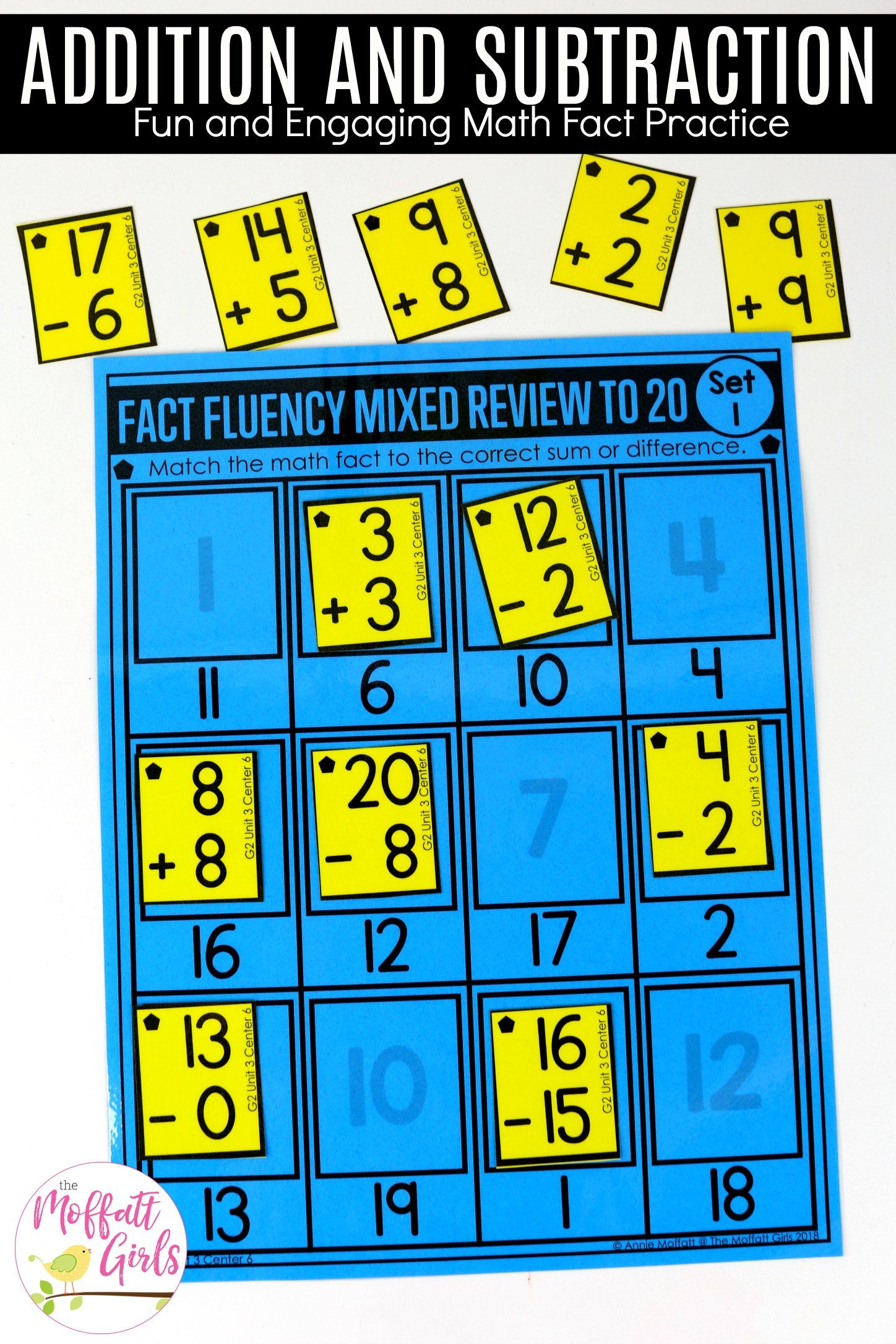 Addition And Subtraction Fluency Up To 100 For 2nd Grade Addition And Subtraction Math Fact Practice Subtraction Math addition and subtraction fluency