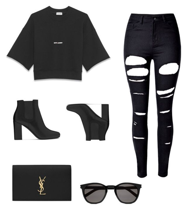 """""""YSL Girl"""" by lushes ❤ liked on Polyvore featuring Yves Saint Laurent and WithChic"""