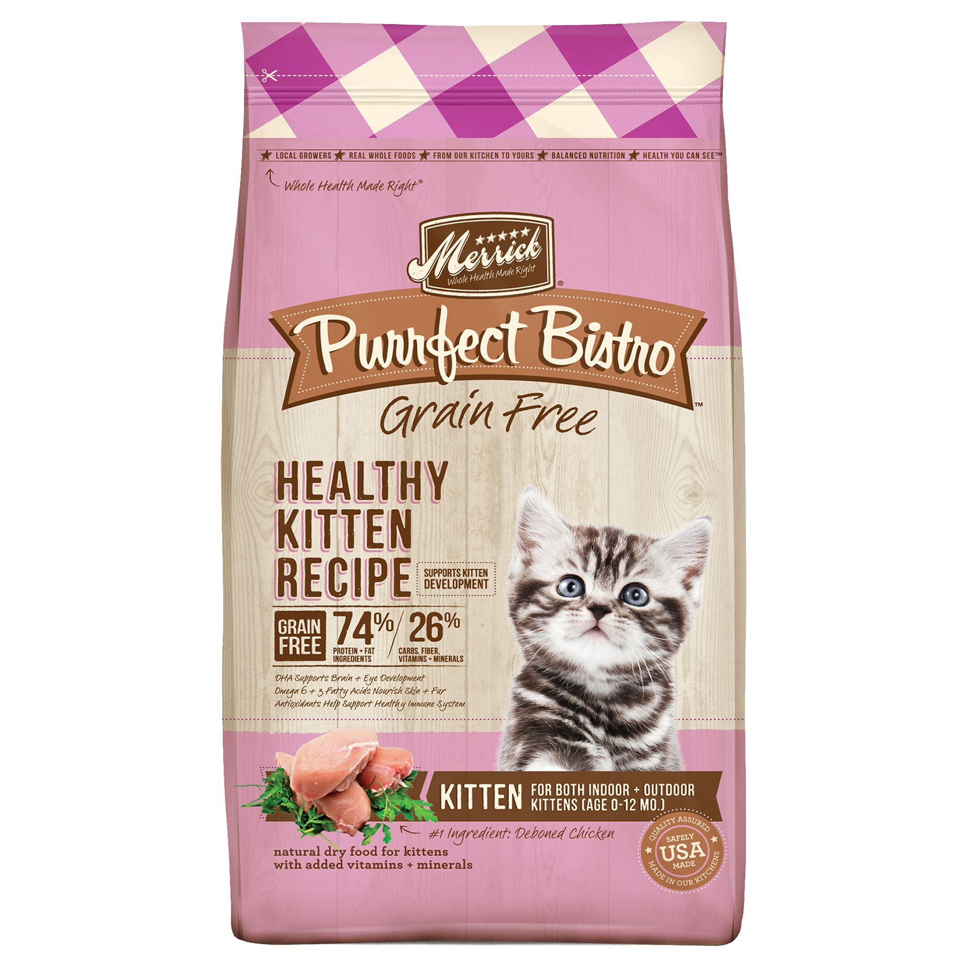 Merrick Purrfect Bistro, Healthy Kitten Food Natural