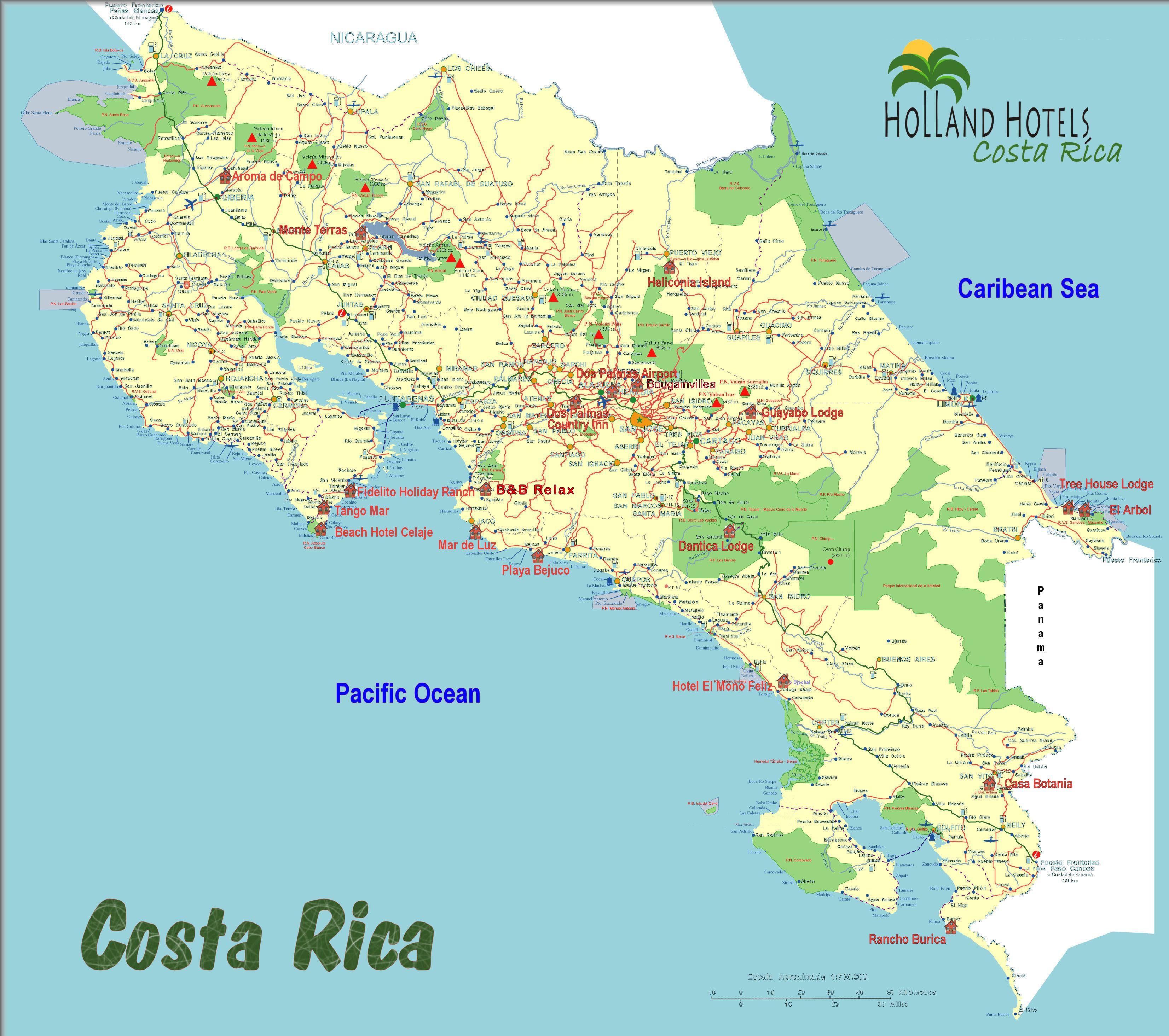 Kaart Van Holland Hotels Nederlandstalige Eigenaren Hotelcosta Rica